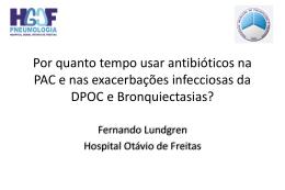 Qual o tempo para uso de antibiótico PAC, EDPOC e Bronquiectasia?