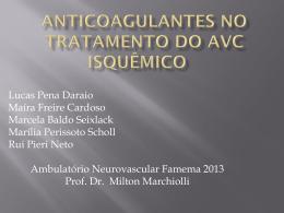 prescrição de anticoagulantes orais.