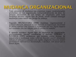 mudança organizacional - CRA-MA
