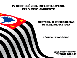 PPT - IV Conferência - Diretoria de Ensino da Região de