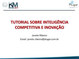 Tutorial: Inteligência competitiva e inovação - Janete Ribeiro