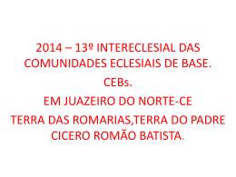 INTERECLESIAL EM JUAZEIRO DO NORTE CE
