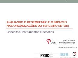 Avaliando o desempenho e o impacto nas organizações do terceiro