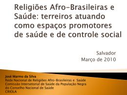 Religiões Afro-Brasileiras e Saúde