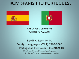 FROM SPANISH TO PORTUGUESE