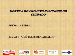 Poema A Pedra – Aidê Teles de Carvalho
