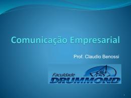 Comunicação Interna - Prof. Ms. Claudio Benossi