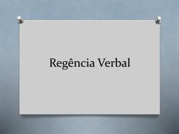 Regência Verbal 8ª serie