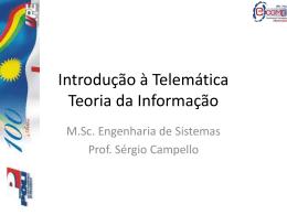 Int telematica – Teoria da informacao