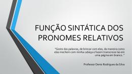 função sintática dos pronomes relativos