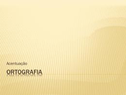 Ortografia - Cursinho Vitoriano