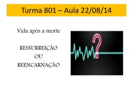 Turma 801 * Aula 22/08/14