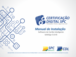 Software de Cartão Inteligente SafeSign 3.0.45 Manual