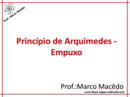 principio de arquimedes empuxo
