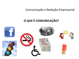 AULA I – Comunicação e Redação Empresarial