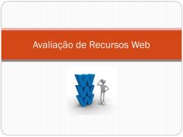 Avaliação de Recursos Web