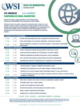 Um checklist para qualquer campanha de email marketing