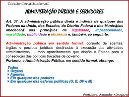 Administração Pública e Servidores