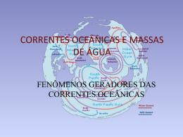 Aula 5 CORRENTES OCEÂNICAS E MASSAS DE ÁGUA