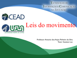 3a aula - Leis do movimento