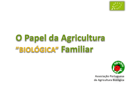 Papel da Agricultura Familiar