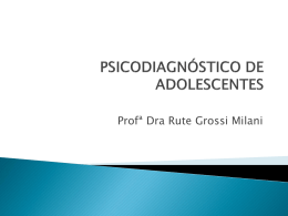 Psicodiagnóstico do adolescente