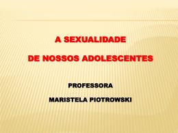 A Sexualidade de nossos Adolescentes