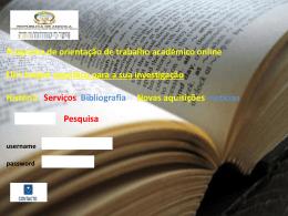 Programa de orientação de trabalho académico online o toque