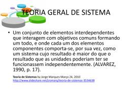 Teoria Geral de Sistemas