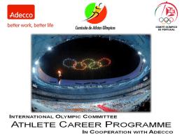 Clique aqui para conhecer o Athlete Career Program