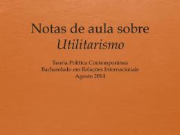 Utilitarismo - Relações Internacionais