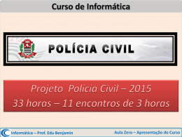 Aula Zero - Projeto Polícia Civil – SP