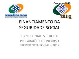 FINANCIAMENTO DA SEGURIDADE SOCIAL