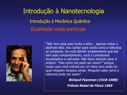Aula 1b - Nanotecnologia