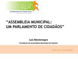 assembleia municipal: um parlamento de cidadãos