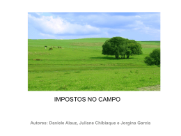 IMPOSTOS NO CAMPO