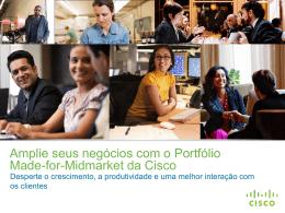 A Cisco oferece para sua empresa de médio porte
