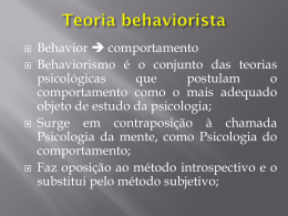 2 Teoria behaviorista