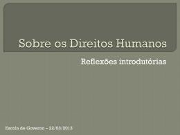 Aula 5 - 22.03 Direitos Humanos 1 - Américo