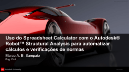 Uso do Spreadsheet Calculator com o Autodesk® Robot
