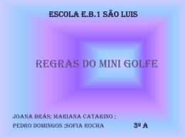 Regras do Mini Golf