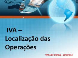 diapositivo - Iva - Localização das Operações
