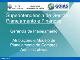 Superintendência de Gestão Planejamento e Finanças