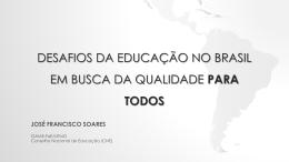 Apresentação do professor Francisco Soares