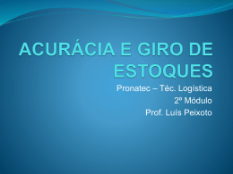 ACURÁCIA E GIRO DE ESTOQUES