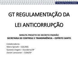GT Regulamentação da Lei Anticorrupção_Secont-ES