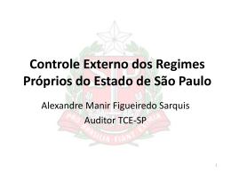 Dr. Alexandre Sarquis - Controle do TCESP nos RPPS