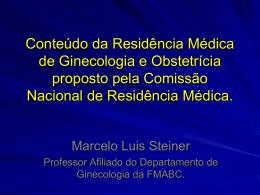 Conteúdo da Residência Médica de Ginecologia e Obstetrícia