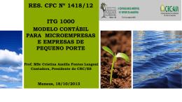 ITG 1000 - NOVO MOD. CONTÁB. NAS MICRO E PEQ - CRC-AM