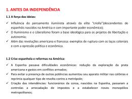 independencia das colonias espanholas
